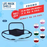 Life Mask face shield Ac27 masker anak 3ply
