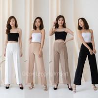 Celana Kulot Highwaist Scuba Premium Skuba Tebal Celana Wanita Panjang