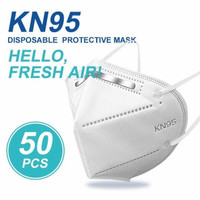MASKER KN95 3D STREREO DISPOSABLE MASK 1BOX ISI 50PCS - 50pc logo kn95