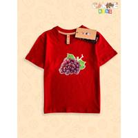 Baju kaos anak kids buah anggur grape fruit