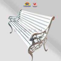 kursi taman besi cor bangku galvanis CUSTOM warna MURAH