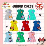 One Glory Dress Harian Anak Perempuan Minnie Mouse 6-14T/Baju Terusan