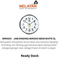 MIRADO - Jam Dinding Mitado 8828 White SL