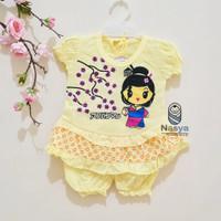 0004-Jepang,Setelan murah baju sehari-hari bayi perempuan 0-6 bulan