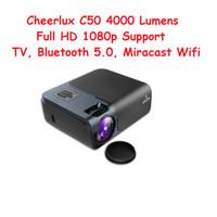 Proyektor Projector Cheerlux C50 Full HD 1080 4000 Lumens