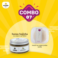 Combo 7 - Mix Mochi Ice Cream+Ice Cream-Jumbo Vanilla + Honshu Hojicha