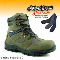Sepatu Hipzo Pria Hingking Sepatu Original Safety Sepatu Kerja Boots - Army, 39