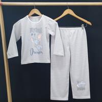 DUMBO Setelan Piyama Baju Tidur anak perempuan PANJANG size 6-18 - 6