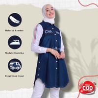 Tunik Jeans Levis Baju Wanita Atasan Wanita Tunik Wanita Remaja - Navy, all size