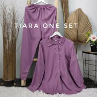 Stelan wanita polos jumbo one set pajamas panjang rayon viscose hits - lavender