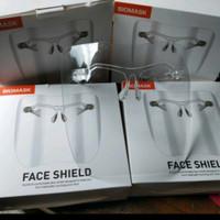 Face shield biomask akrilik Bahan polycarbonate, Bahan akrilik tebal