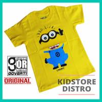 Baju Kaos Anak Minion / Kaos Distro Anak / Motif Minion / Goverti