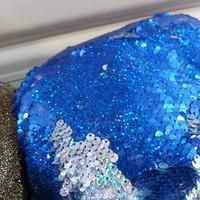 kain sequin background vlog/seribu payet/bahan tile squin reversible - Biru