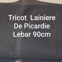 TRICOT MADE IN LAINIERE DE PICARDIE PARIS LEBAR 90CM HARGA PER METER - Hitam