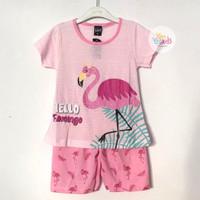 Setelan Baju Tidur / Baju Santai Anak Perempuan Umur 2 - 9 Tahun - Pink Muda, S