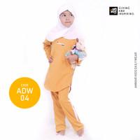 Pakaian Tidur Anak Perempuan Baju Santai Anak Daily Wear Anak Cewek - ADW04 Mustard, S