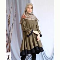 Pakaian Baju Tunik Atasan Muslim Wanita Kekinian Terbaru Tunik murah
