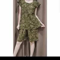Baju Tidur Batik Anita Baby Doll Celana Pendek Size L Tanpa Kancing