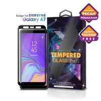 Tempered Glass SAMSUNG Galaxy A7 Full Cover Black - Premium Glass Pro