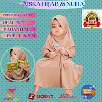 Baju gamis anak perempuan Gamiset daily Nuha Coksu L 3 tahun