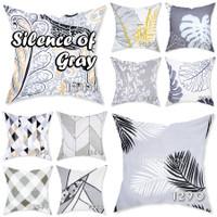 EMBIE CUSHION - Sarung Bantal Sofa / Cushion, 40x40 cm,Silence of Gray