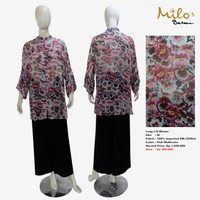 Women Long L/S Blouse Miltonia Pink- Bundling Deals MILOS BALI