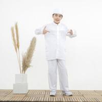 Baju Koko Anak Warna Putih Fayrany FKP-015 Size 1 - 5 Tahun - Bordir Putih, Size 5