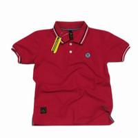 polo shirt anak / baju kaos anak laki - merah N2kids, L