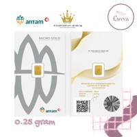 MICRO GOLD ANTAM HARTADINATA ABADI PREMIUM (LM) 0.25 GRAM