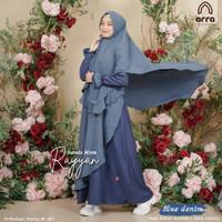 Baju Pakaian Gamis Wanita dewasa Exclusive Eksclusive Premium by ARRA - blue denim, XS