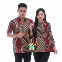Baju Batik Cauple Pria Wanita Kemeja Seragam Hem Motif Blus Remaja