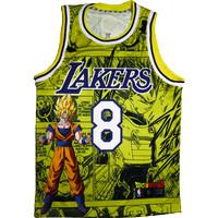 Jersey Kobe Bryant LA Lakers Dragon Ball Swingman Basket Baju NBA - S