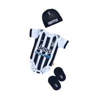 Set Jumper Bayi Bola Juventus Topi Kupluk Bayi Newborn Jumpsuit Bayi L - S