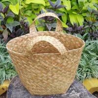 Tas/keranjaang purun/cover pot tanaman/hampers/Bakul purun uk XS