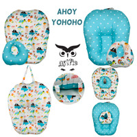 sofa bayi multifungsi bantal dot - Gylfie - katun lokal - 2 motif - ahoy yohoho