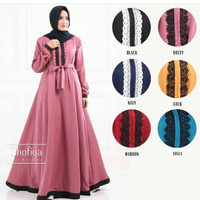 Baju Gamis Muslim Remaja Wanita Dewasa/Remaja Kekinian Murah Terbaru