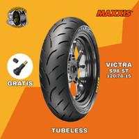 BAN TUBELESS MAXXIS VICTRA MOTOR YAMAHA XMAX 120/70 RING 15