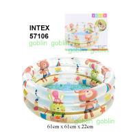 Intex 57106 Kolam Karet Bak Mandi Anak 3 Ring 61cm