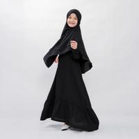 Bajuyuli - Baju Muslim Anak Perempuan Syari Bergo - Hitam