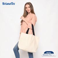 Tote Bag Kanvas Besar ( Tas Belanja Canvas Cotton )
