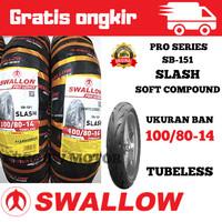 Ban Luar Tubles Swallow Pro Series 100/80-14 SB - 151 SLASH soft Compo