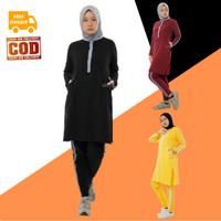 Setelan Baju Olahraga Senam Wanita Muslim Muslimah Dewasa ZAHRA Aisye