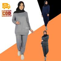 Setelan Baju Olahraga Senam Wanita Muslim Muslimah Dewasa ALEENA Aisye