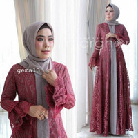 Dress Gamis Pesta Kebaya Wisuda Gema 11 by Marghon Ori. Baju Muslim