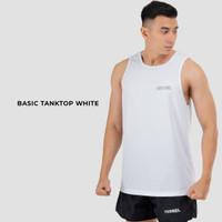 Basic tanktop white Baju olah raga dengan fitur : - Breathable - Ela