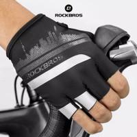 ROCKBROS S247 Bike Glove Half Finger - Sarung Tangan Sepeda BLACK