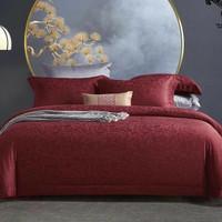 sprei set dan bedcover tencel jaquard original warna merah 200x200
