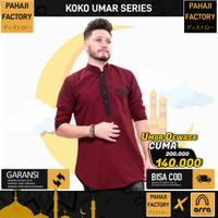 Baju Koko Pria Dewasa Pakistan Umar Distro Merah Maroon Pahaji Factory