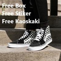 Sepatu Vans Sk8 Checkerboard Premium Quality - Putih, 36