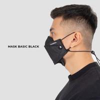 Masker basic black kain non medis #tech series Terrel sportswear